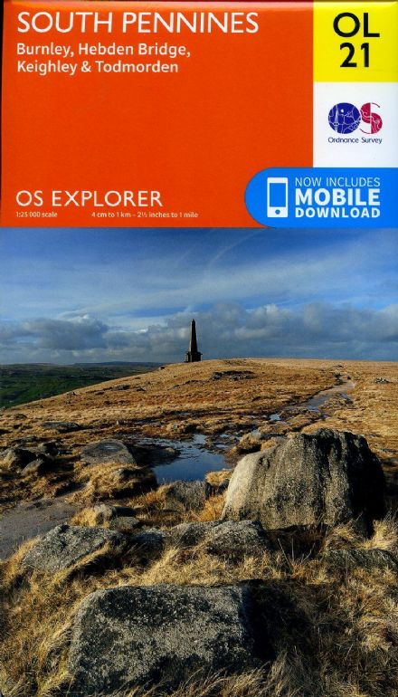 OS Explorer OL 21 South Pennines